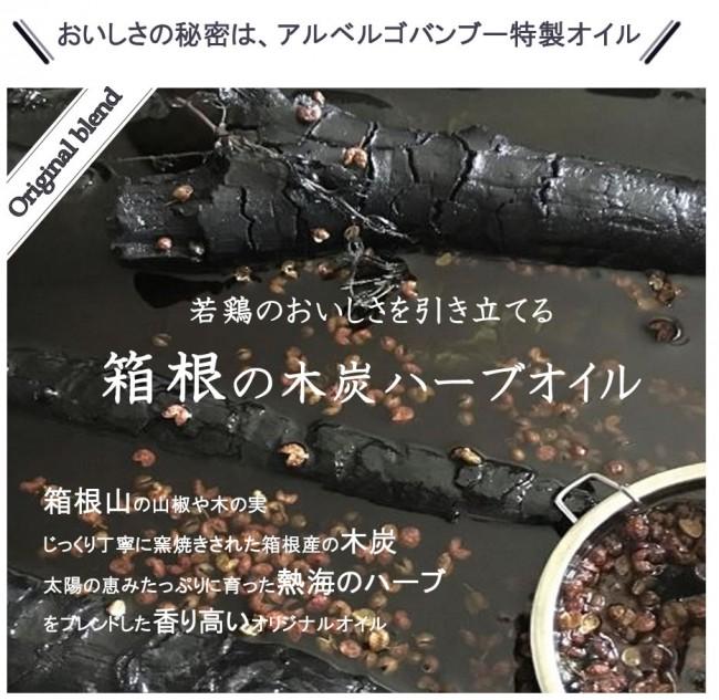 箱根の木炭ハーブオイル